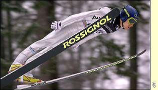 German Sven Hannawald during the first round of the FIS World Cup Individual Ski-Jumping in the western German town of Willingen