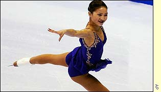 Michelle Kwan in action at the US Figure Skating Championships