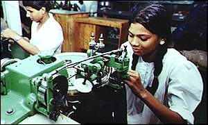 Women working in a Bangladesh factory