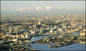 A scenic view of Yokohama