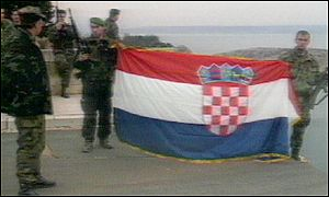 Croatian soldiers during the war for independence