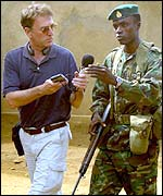 West Africa Correspondent Mark Doyle interviews an RSLAF Captain in eastern Sierra Leone