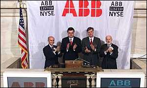 ABB listing on the New York Stock Exchange, 6 April 2001