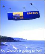 Ikea's advert before it decided on the Cardiff Bay site