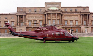 The royal helicopter