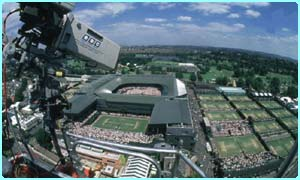 Ariel view of Wimbledon
