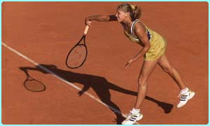 Anna Kournikova at the French Open - played on clay