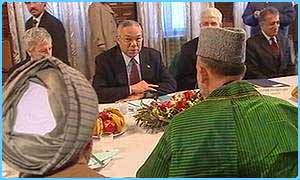 Colin Powell and the Afghan government