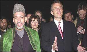 Hamid Karzai and Tony Blair