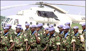 Kenyan troops as part of the UN peace force