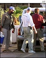 UN weapons inspectors in Iraq, November, 1998