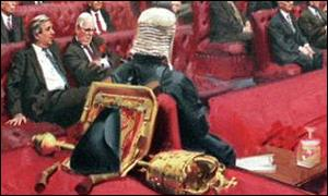 The House of Lords Debating the Queens Speech, November 1995, by Andrew Festing
