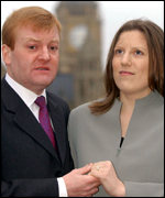 Liberal Democrat leader Charles Kennedy and fiancee Sarah Gurling