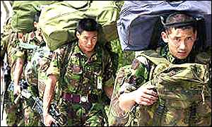 Gurkha unit on patrol