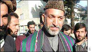 Interim Afghan leader Hamid Karzai