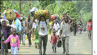 People flee Goma
