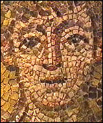 A fragment of Kanakaria mosaic