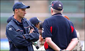 Nasser Hussain and Duncan Fletcher
