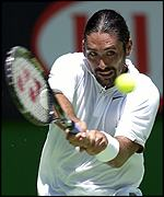 Marcelo Rios in action in the third round of the 2002 Australian Open