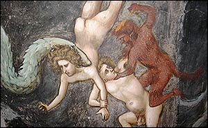Devils torment the bodies of the dead who will spend eternity in Hell (picture by David Willey)