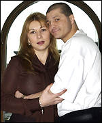 American Boxer Johnny Tapia, four times World champion, poses with his manager and wife Teresa