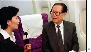 Jiang Zemin (right)