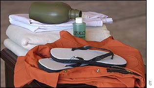 Items issued to prisoners at Guantanamo Bay