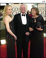 Nicole Kidman arrives with her parents