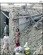 Homes destroyed in Kabul