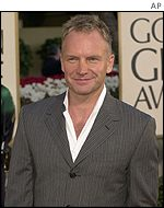 Sting said he would give his award to his daughter