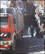Lorry at Salang Tunnel