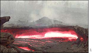 Lava flow at of Monigi near Goma