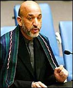 Hamid Karzai at the UN in New York