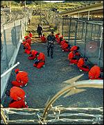 Заключенные в лагере Гуантанамо