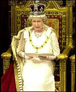 Queen at the state opening of parliament