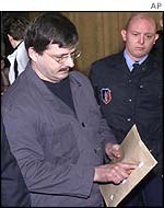 Marc Dutroux, pictured during a trial for car theft on 17 January 2002
