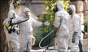 Anthrax inspectors on Capitol Hill get hosed down