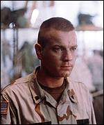 Ewan McGregor in Black Hawk Down