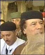 Fhimah with Colonel Gaddaffi after returning to Tripoli