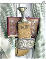Koran and a dagger