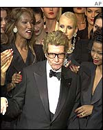 Yves Saint Laurent at his final show