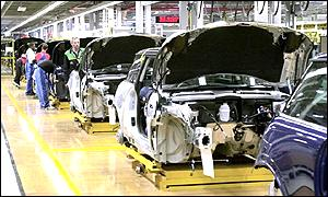 The BMW Mini plant at Cowley, near Oxford