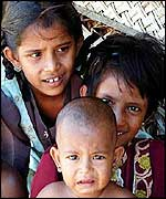 Displaced Tamil children