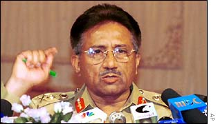 President Musharraf speaking shortly after taking power in 1999