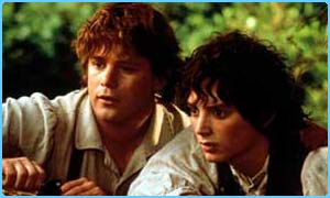 Dominic Monaghan and Elijah Wood star in Lord of the Rings