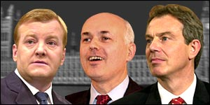 Charles Kennedy, Iain Duncan Smith and Tony Blair