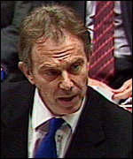 PM Tony Blair at the Despatch Box