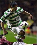 Celtic's Petta rides a tackle