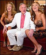 Hugh Hefner and Playboy models, BBC
