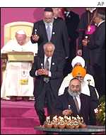 The Pope with other religous leaders